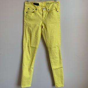J. Crew yellow skinny jeans